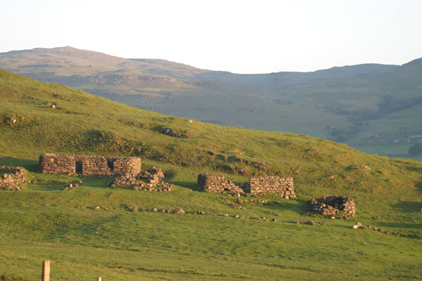 old ruined                               village near Dervaig