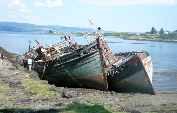 The boats at Salen