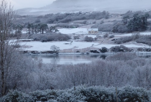 View from Ardrioch in                                                           the snow